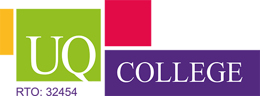 UQ College logo. RTO number 32454